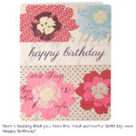 birthday card with purple color