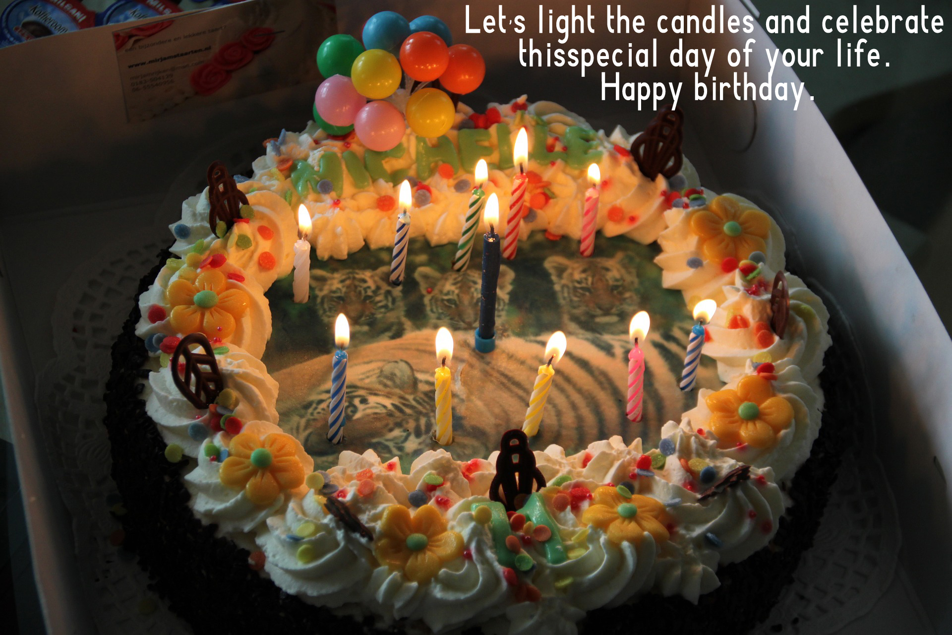 birthday wishes and candle