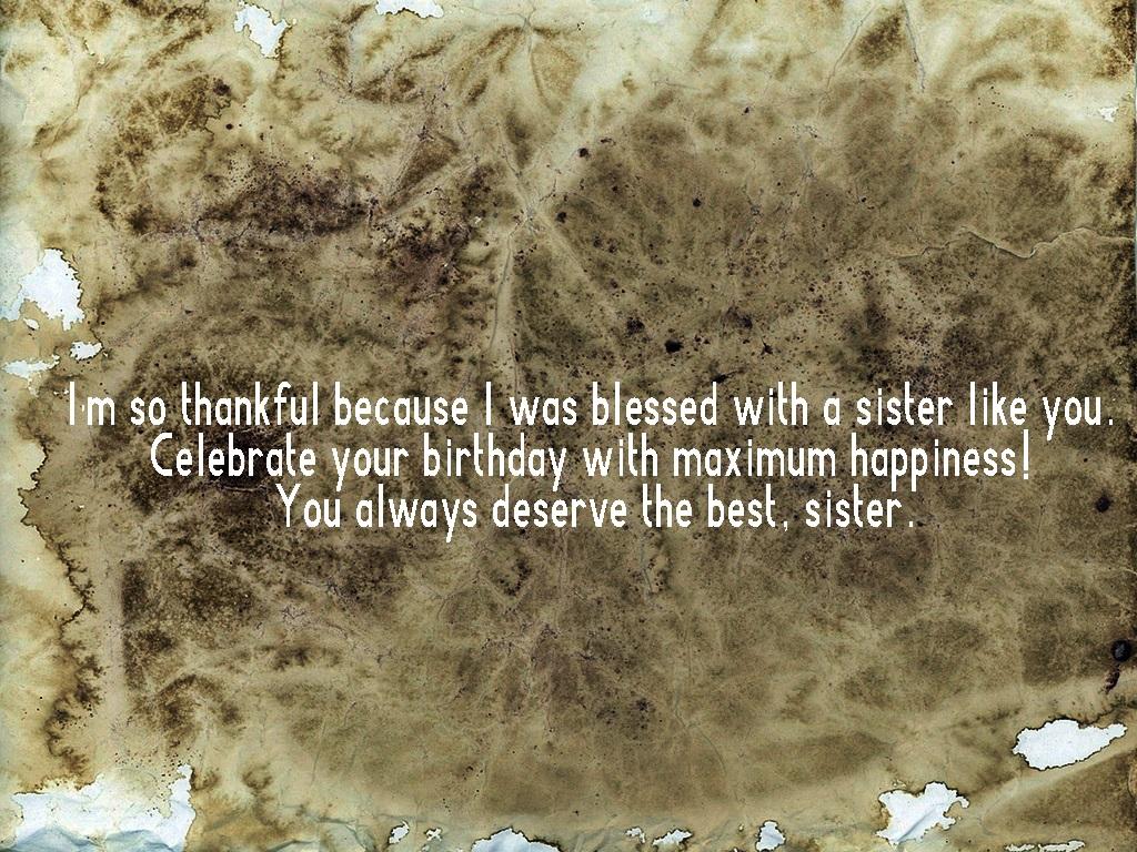 Happy Birthday Wishes For Elder Sister