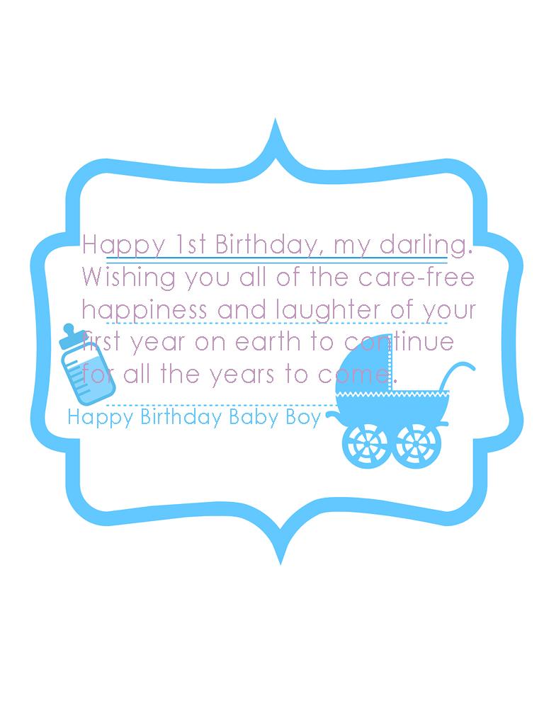 Cute Happy Birthday Baby Boy