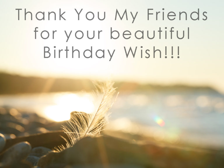 Thank you for the Birthday Wishes on Facebook
