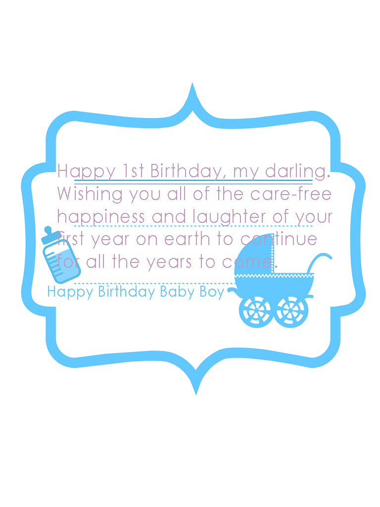Happy Birthday 1st Baby Boy