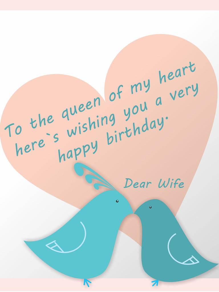 Romantic birthday wishes for my wife