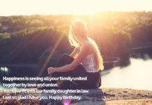 Birthday Greetings for Daughter in Law